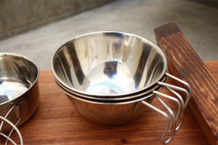 セリア(Seria)湯せんカップを改造したシェラカップ