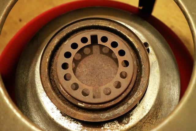 サンエム養蚕用石油ストーブのエース型の芯調整器