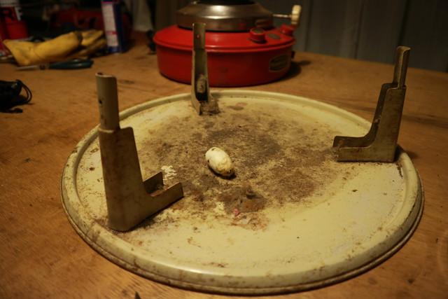 サンエム養蚕用石油ストーブのエース型の底板