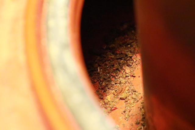 サンエム養蚕用石油ストーブのエース型のタンクの錆