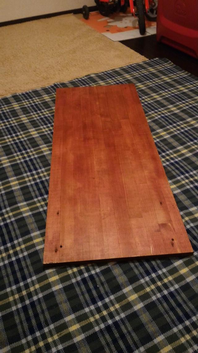 自作ローテーブルの天板