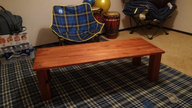 自宅で自作ローテーブルを使ってみる