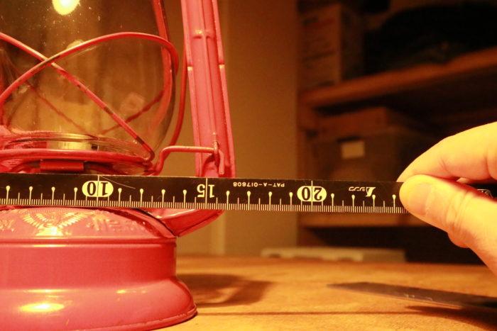 WINGED WHEEL No.500 ランタンのサイズ