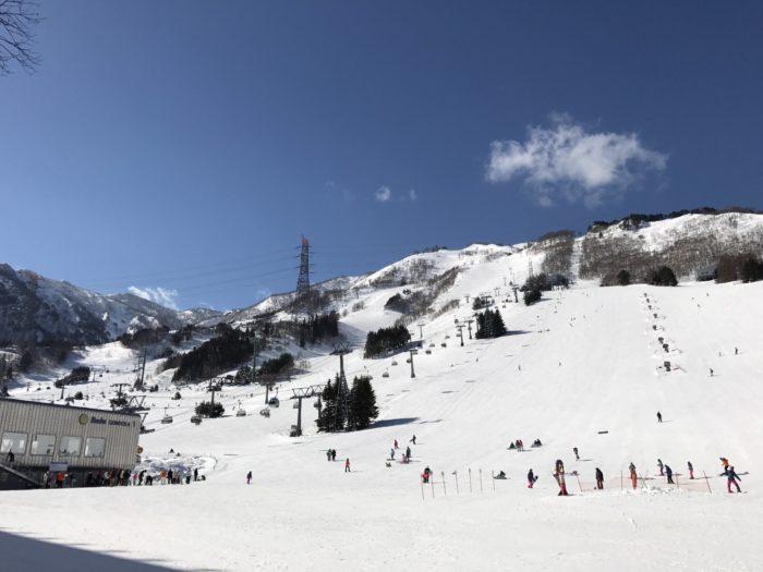 苗場スキー場の晴れ間