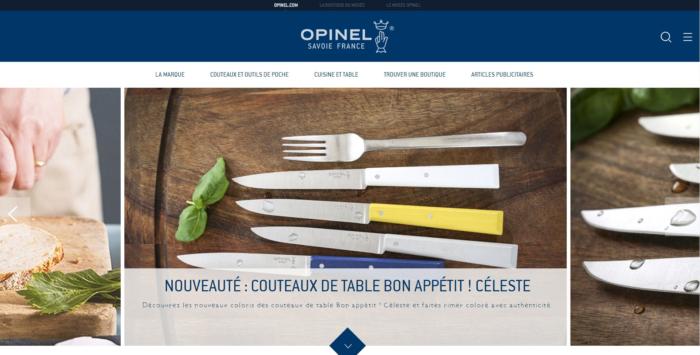 OPINELのWEBサイト