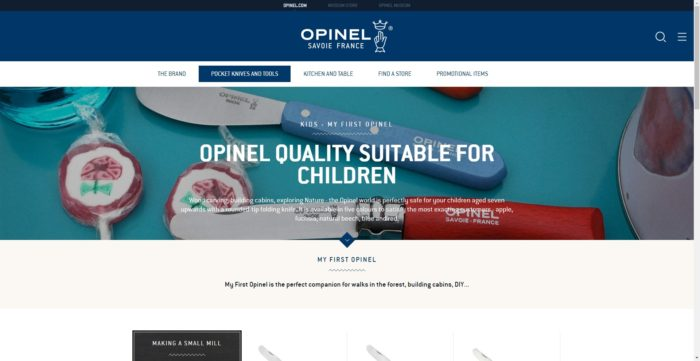 OPINELのWEBサイトのKIDS - MY FIRST OPINEL