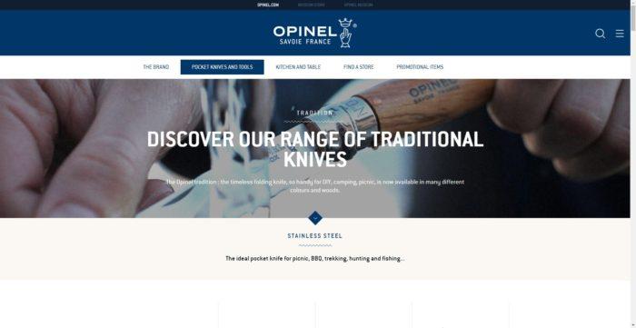OPINELのWEBサイトのTRADITION