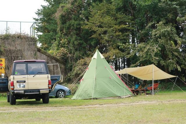 オートキャンプ那珂川ステーションに設営