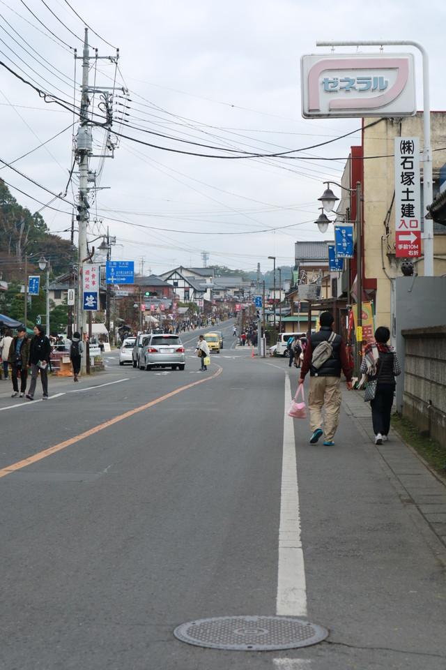 益子陶器市での街並み