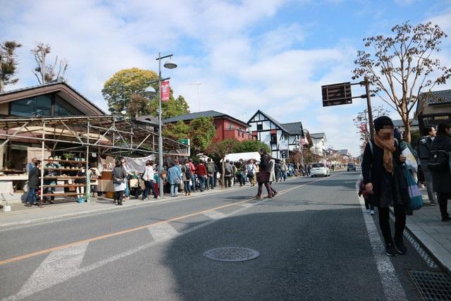 益子陶器市の街並み