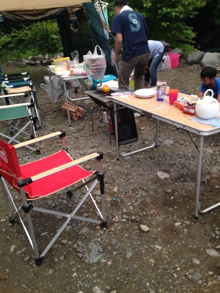 藤野キャンプ場サイレントリバーでキャンプの夕飯