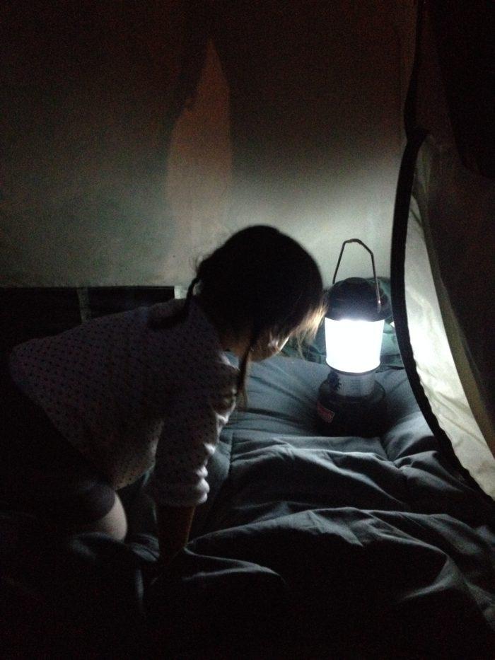 藤野キャンプ場サイレントリバーでキャンプの就寝