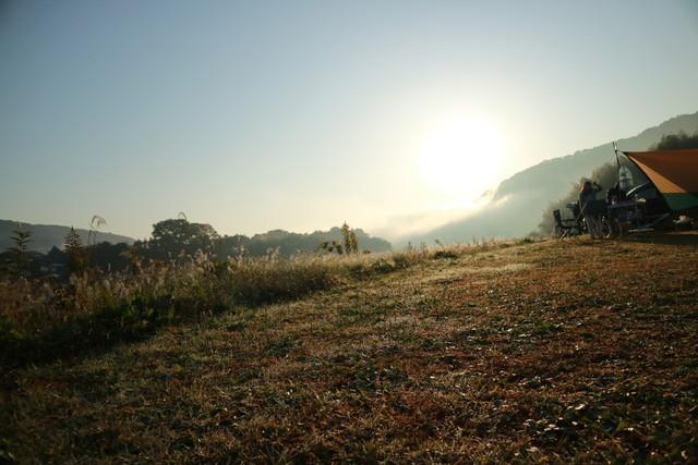 オートキャンプ那珂川ステーションの日の出