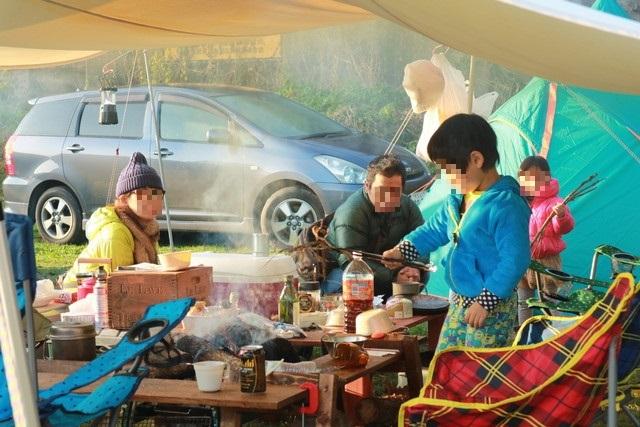 オートキャンプ那珂川ステーションの朝