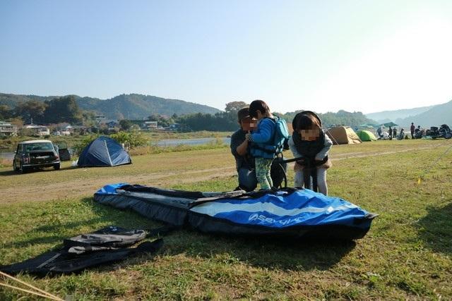オートキャンプ那珂川ステーションでカヤック