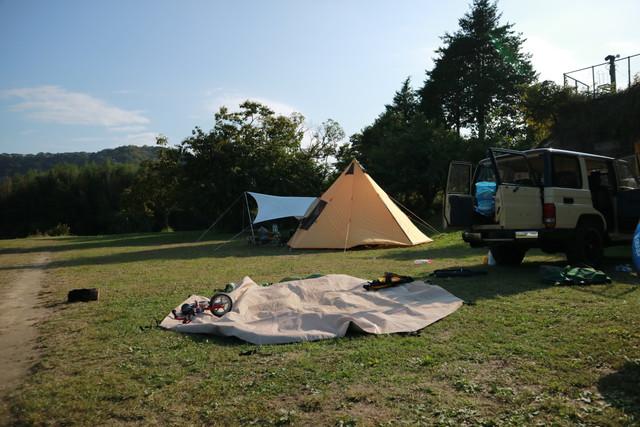 オートキャンプ那珂川ステーションの撤収風景