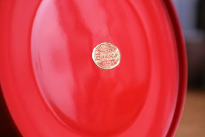 WINGED WHEEL No.350 Red のEnescoのシール