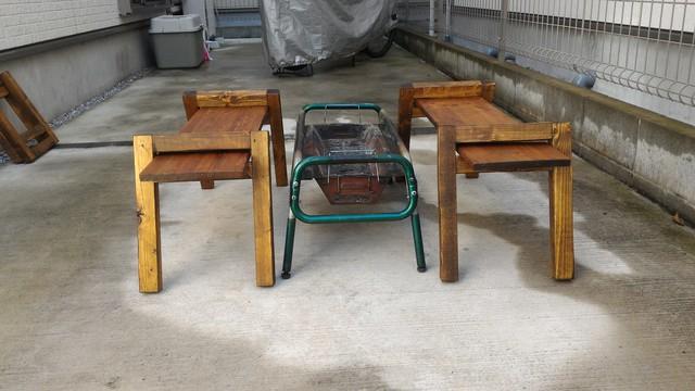 囲炉裏テーブルの組立