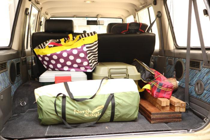 田代運動公園でデイキャンプをする為の荷物