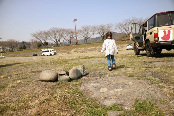 田代運動公園でデイキャンプの準備