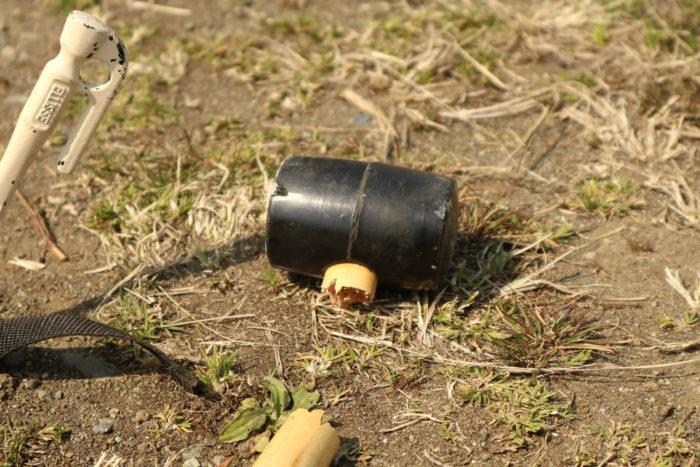 ペグハンマーとして使用していたダイソーのゴムハンマー