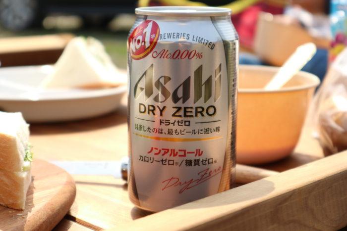田代運動公園でデイキャンプでノンアルコールビール