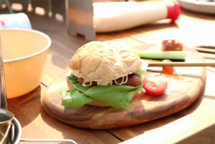 田代運動公園でデイキャンプでサンドイッチ