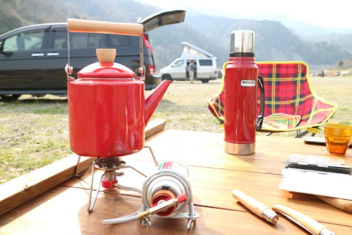 田代運動公園でデイキャンプでお湯を沸かす