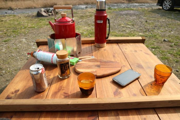 田代運動公園でデイキャンプでコーヒーを飲む