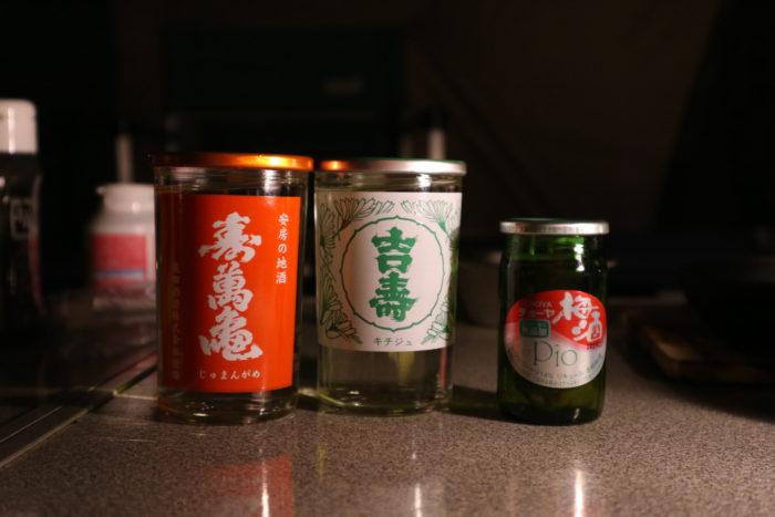 森のまきばオートキャンプ場での日本酒たち