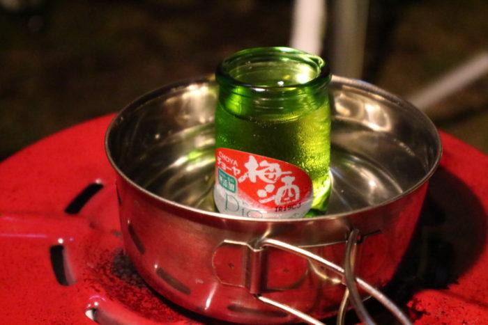 CHOYA梅酒の熱燗