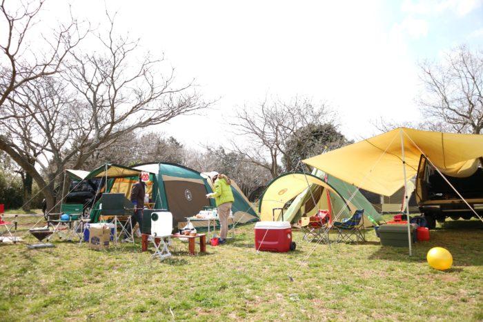 森のまきばオートキャンプ場でキャンプの風景