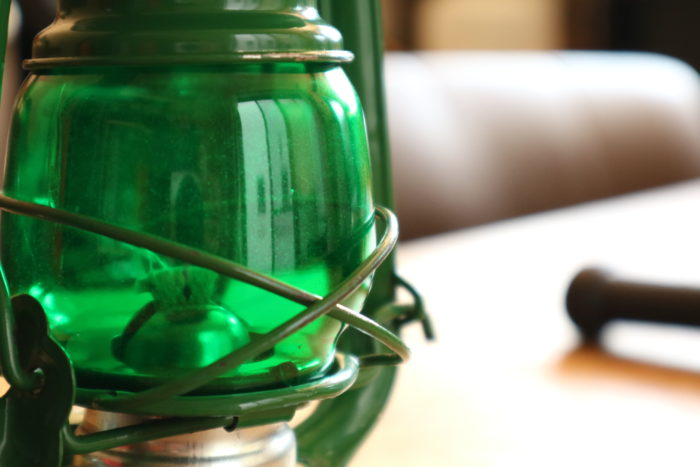 WINGED WHEEL No.350 色付きホヤの緑の火屋