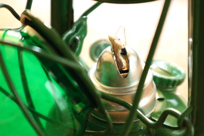 WINGED WHEEL No.350 色付きホヤの緑のバーナー部