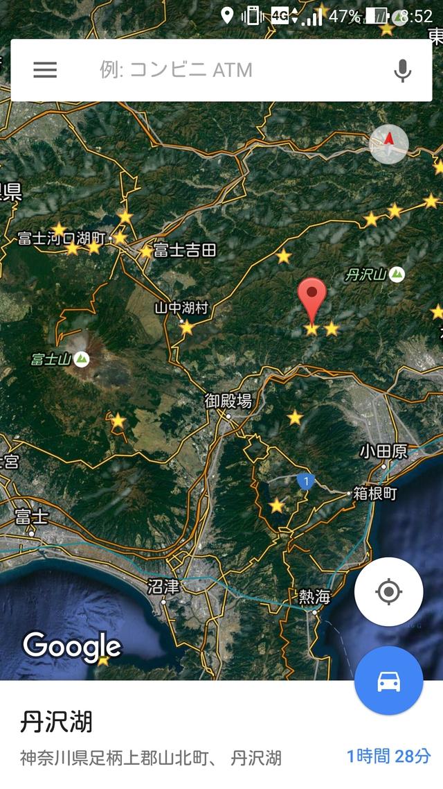 丹沢湖の地図