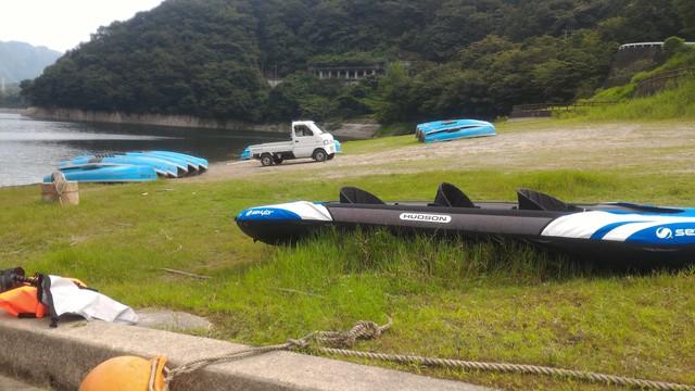 丹沢湖で初めての湖カヤックをやった後