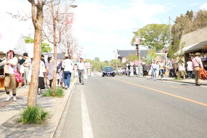 2017春の益子陶器市のメインストリート