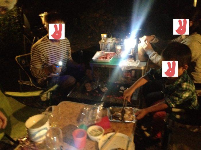大房岬キャンプ場の夕飯