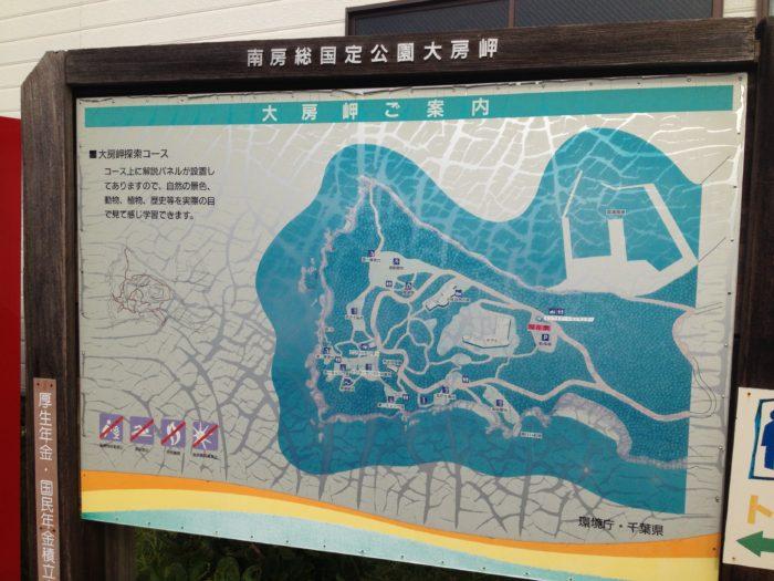 南房総国定公園大房岬の地図