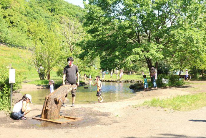 GWの上大島キャンプ場のじゃぶじゃぶ池
