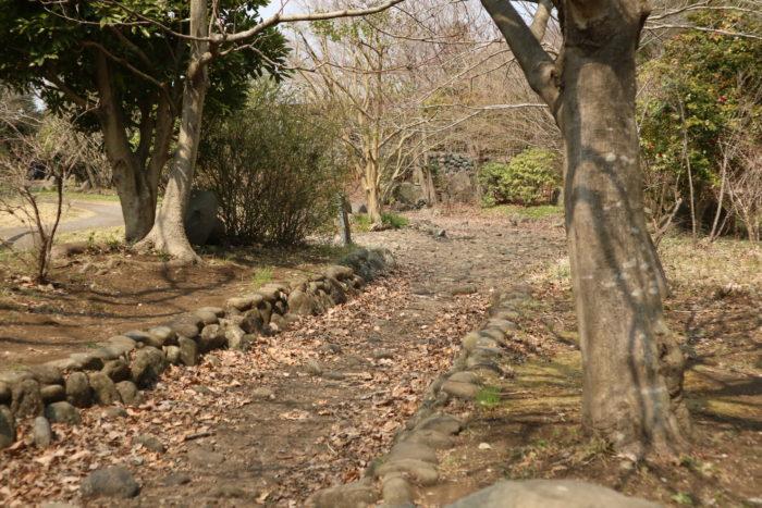 冬の上大島キャンプ場のじゃぶじゃぶ池