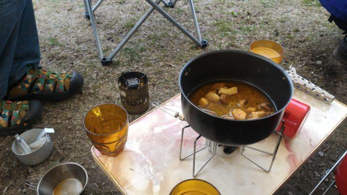 北軽井沢スウィートグラスでキャンプの朝食