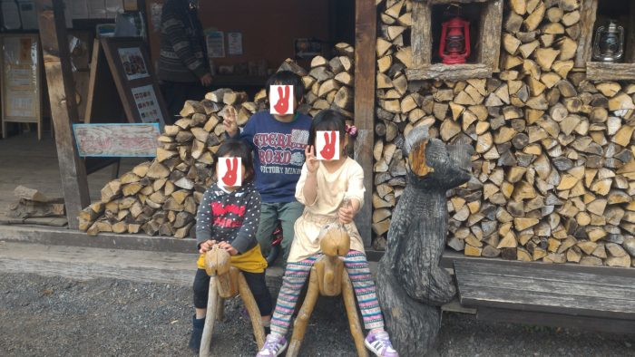 北軽井沢スウィートグラスでキャンプの記念撮影