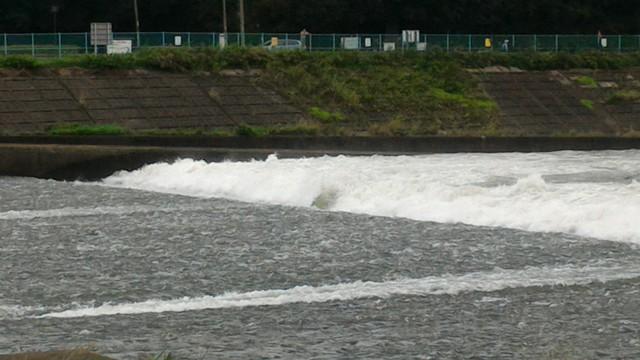 相模川の磯部の堰