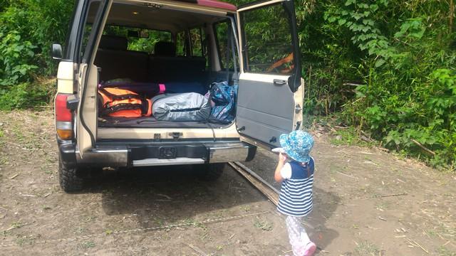 荒川の玉淀湖でカヤックする為にカヌーリゾートたまよどで準備をする