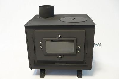 薪ストーブの新保製作所が作るミニ薪ストーブ4面窓付チョッパープロトタイプ