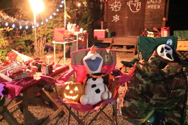 赤城オートキャンプ場の2016ハロウィンフェスタの夜のサイト