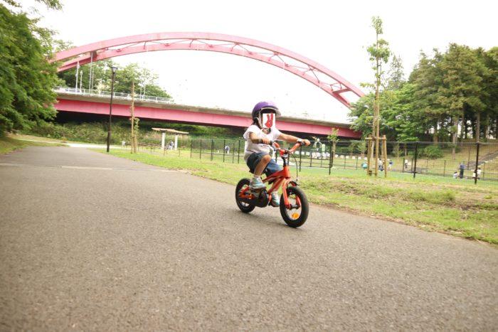 芹沢公園で自転車