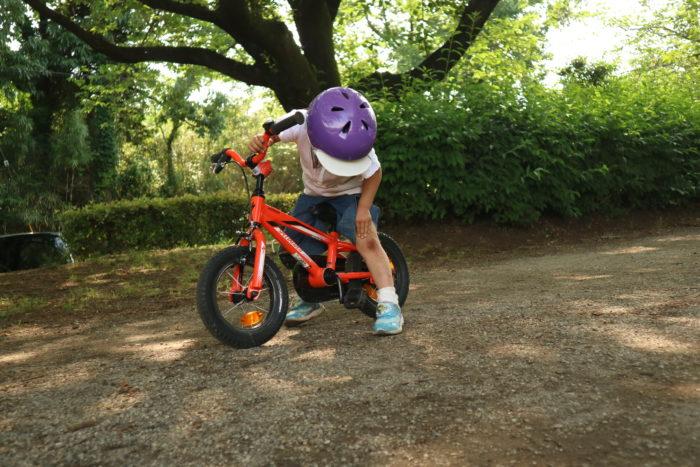 芹沢公園で自転車して怪我した