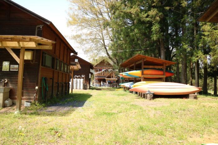 オートキャンプ那珂川ステーションの管理棟